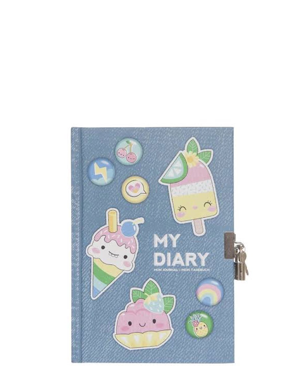 Tiger Tribe Lockable Diary - Sweet Secrets