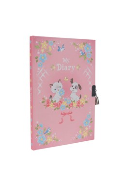 Lockable Diary - Kittens & Puppies