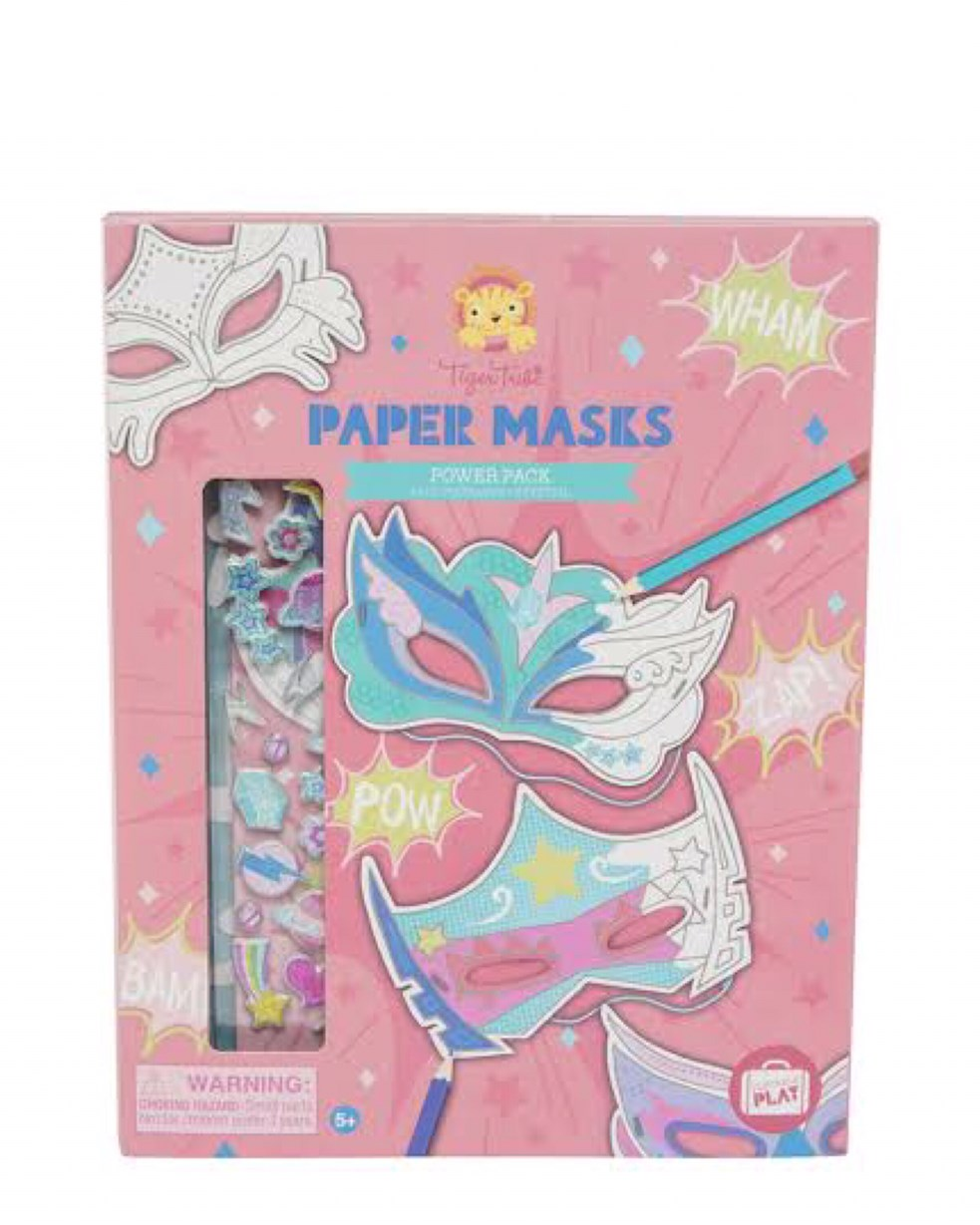 Tiger Tribe Paper Masks - Power Pack