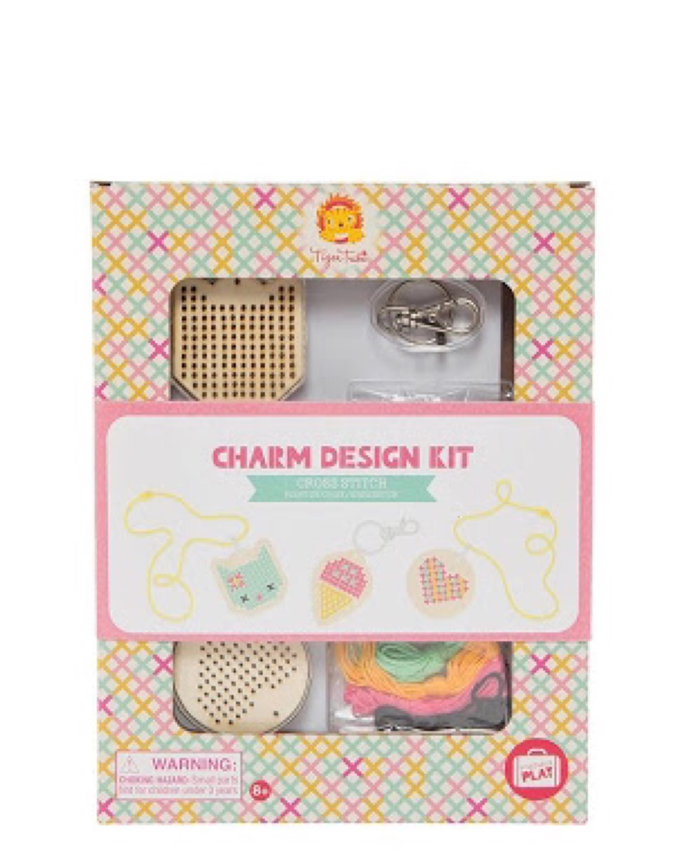 Tiger Tribe Charm Design Kit - Cross Stitch