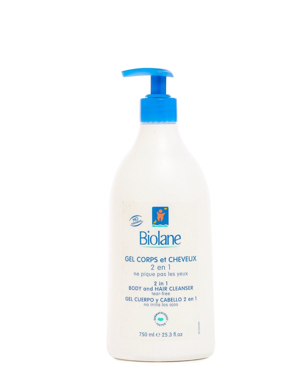 Biolane 2 in 1 Hair and Body Cleanser 750mL