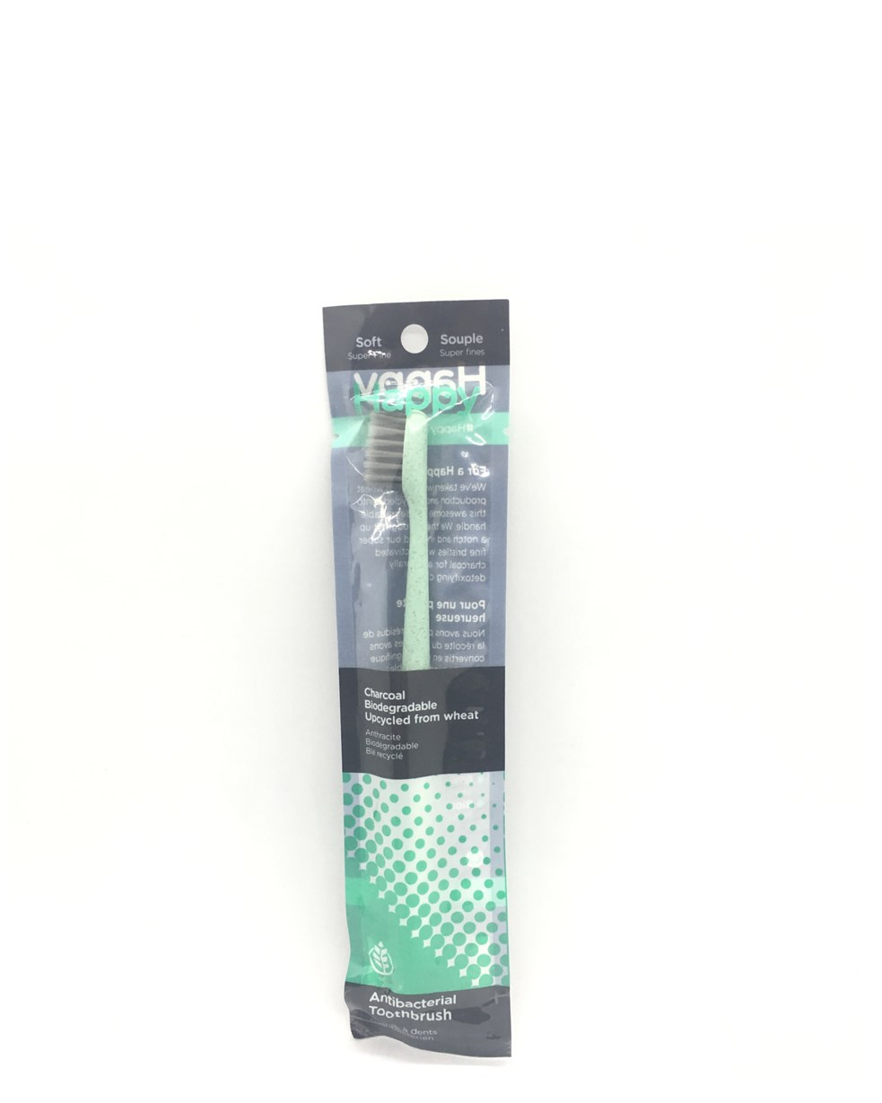 Happy Biodegradable Antibacterial Toothbrush - Green