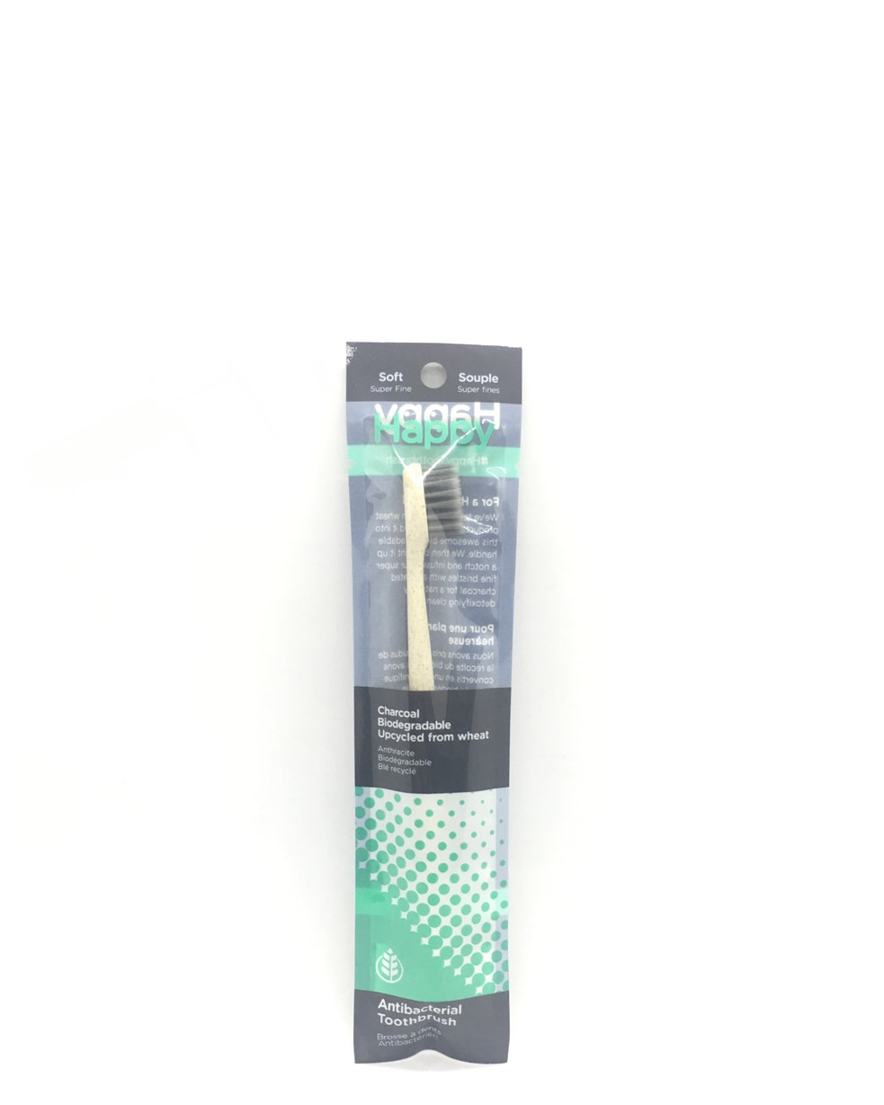 Happy Biodegradable Antibacterial Toothbrush - Wheat
