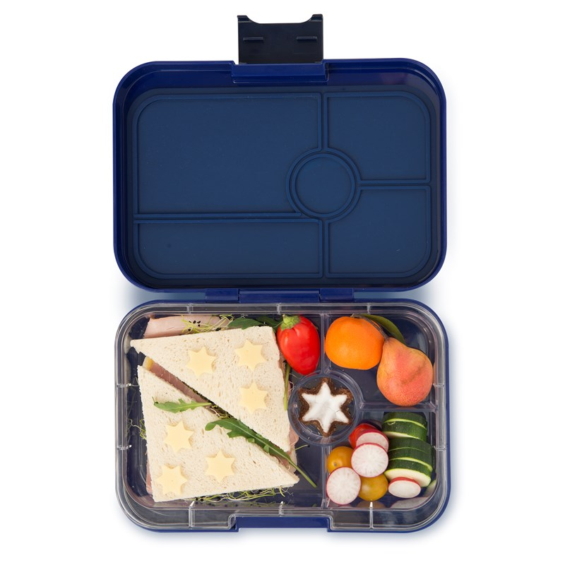 Yumbox Tapas - 4 Compartment - Portofino Blue - (Clear)