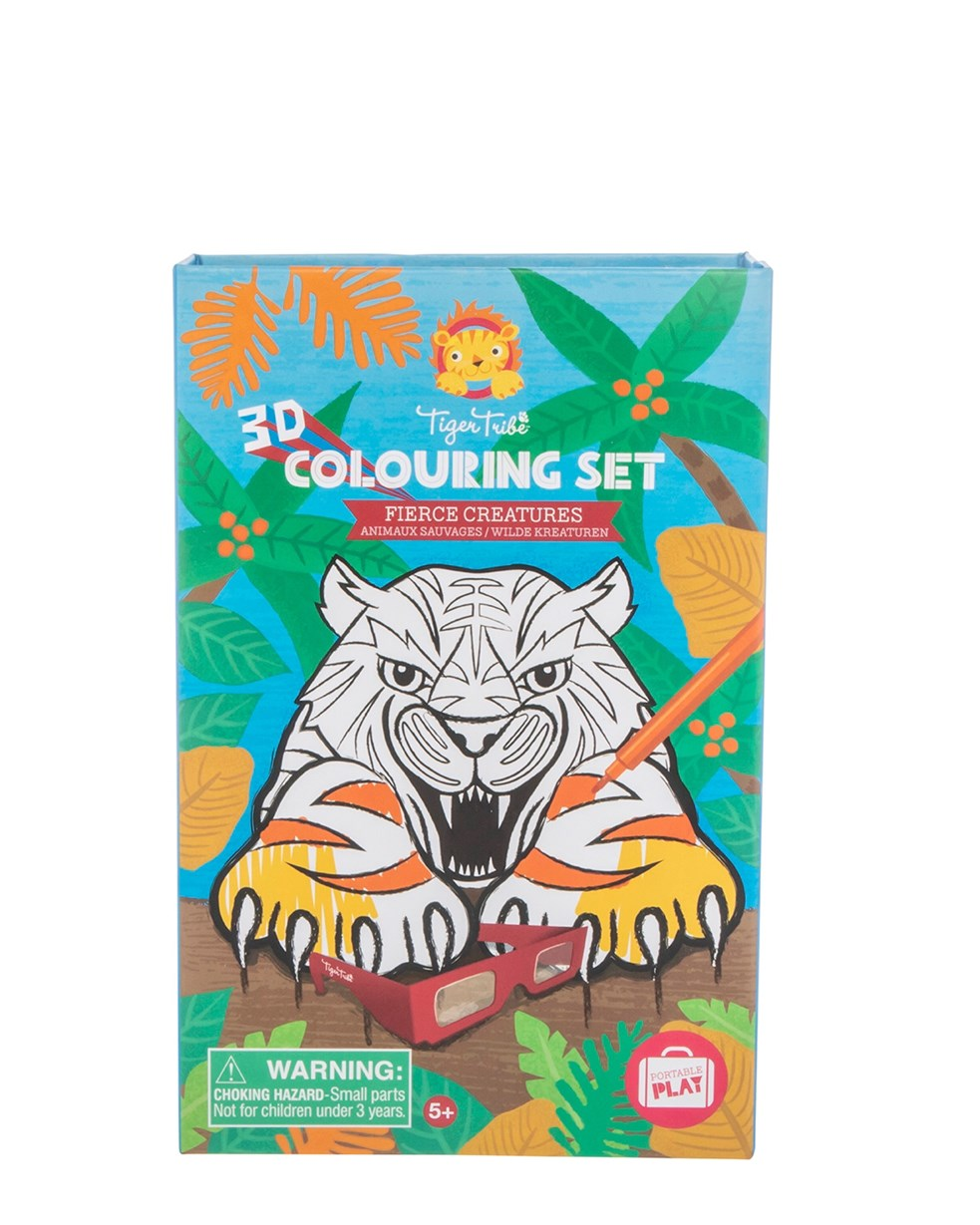 Tiger Tribe 3D Coloring Set - Fierce Creatures
