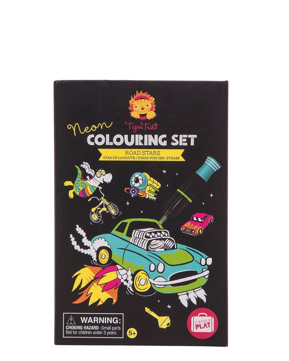 Tiger Tribe Neon Coloring Set - Road Stars