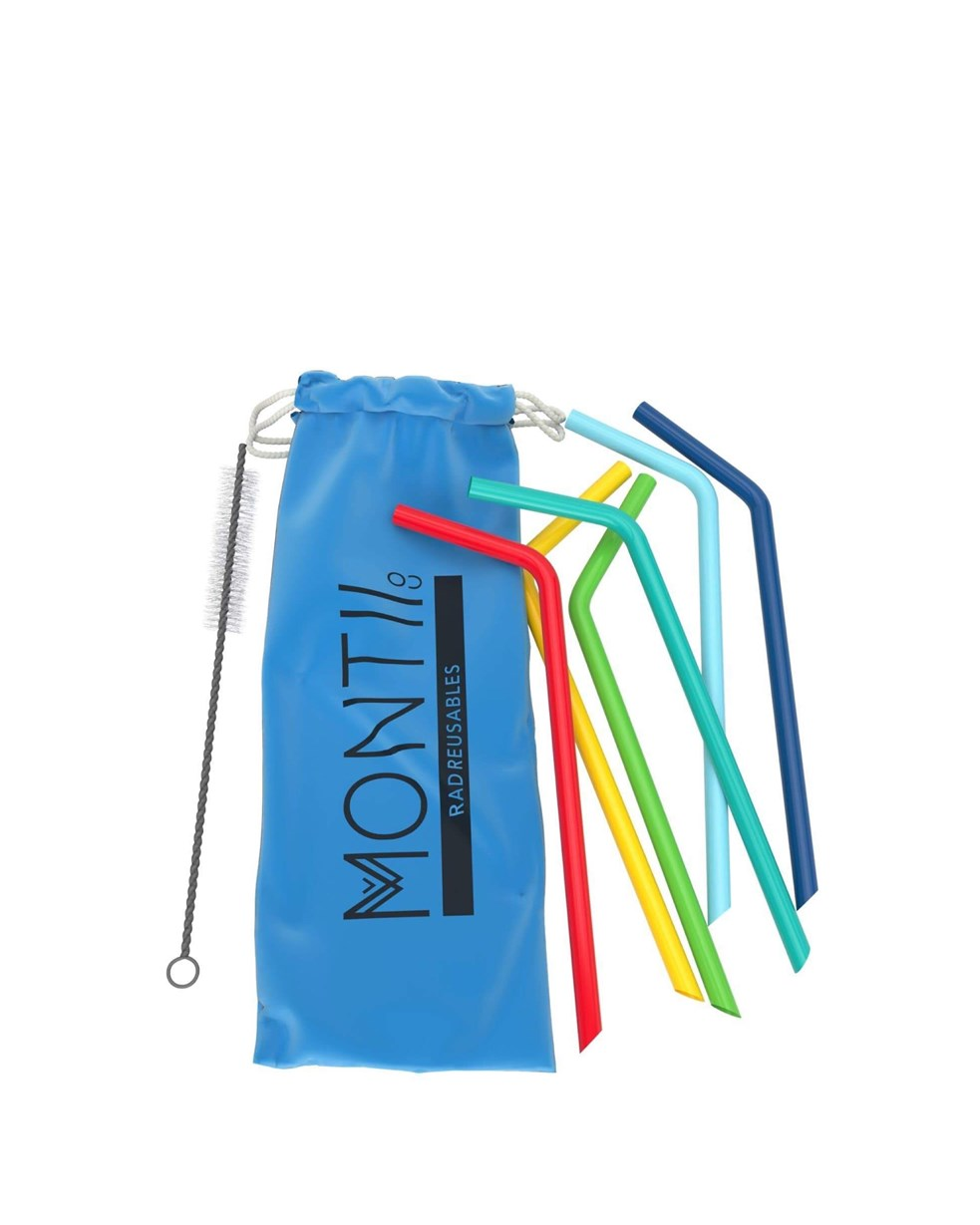 Montiico Silicone Straw Set - Blue