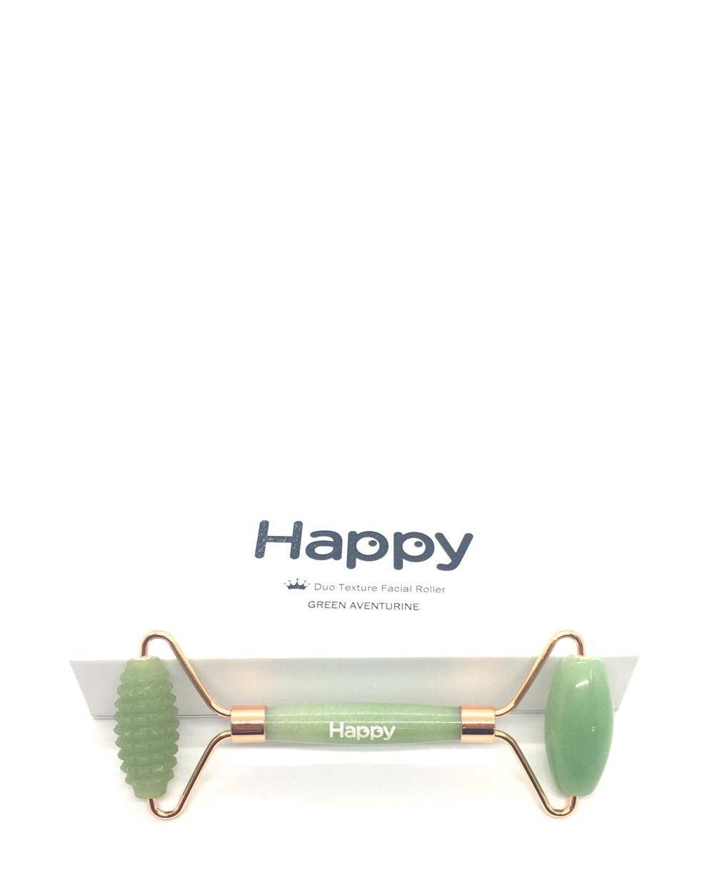 Happy Green Aventurine Duo Texture Roller Facial Massager