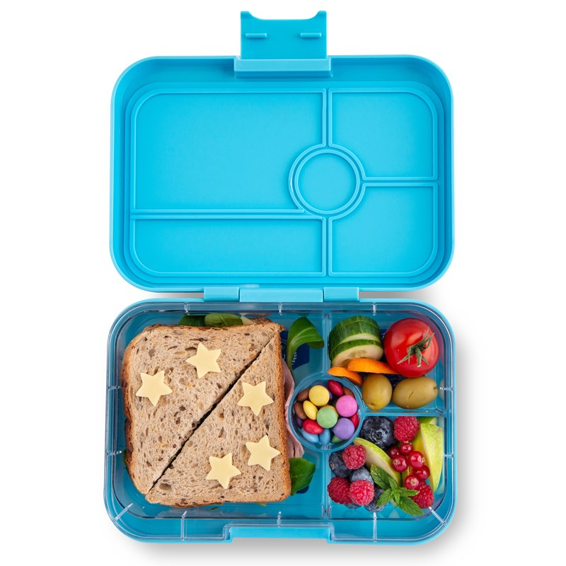 Yumbox Tapas - 4 Compartments - Nevis Blue