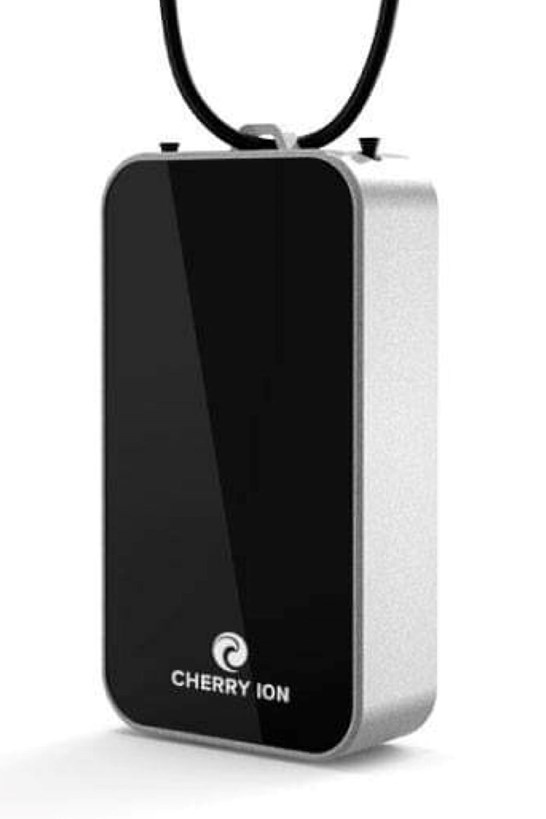Cherry Ion Personal Wearable Air Purifier (Black-Silver)