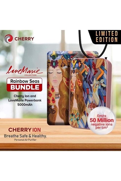 Cherry Ion Personal Air Purifier with Powerbank LoveMarie Collection