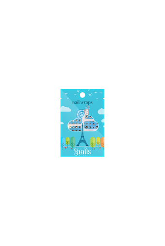 Snails Nail Wraps– Blue Stars