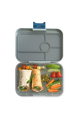Yumbox Tapas - 4 Compartment - Flat Iron Gray (Non-Illustrated Tray)