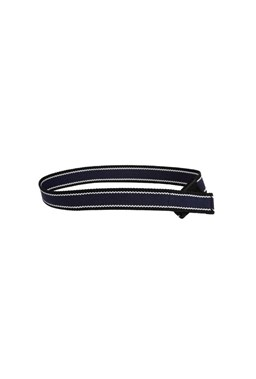Myself Belts - Navy/Black Webbing Belt
