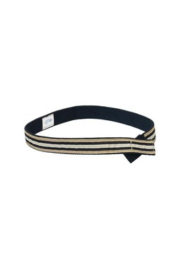 Myself Belts - Navy Stripe Belt (XS)