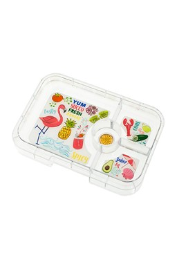 Yumbox Tapas Tray - 4 Compartments (Flamingo)