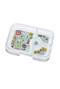 Yumbox Panino Tray - 4 Compartments (Route 66 Tray)