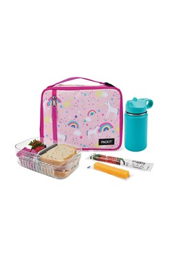 Packit Freezable Lunch Bag Unicorn Sky Pink