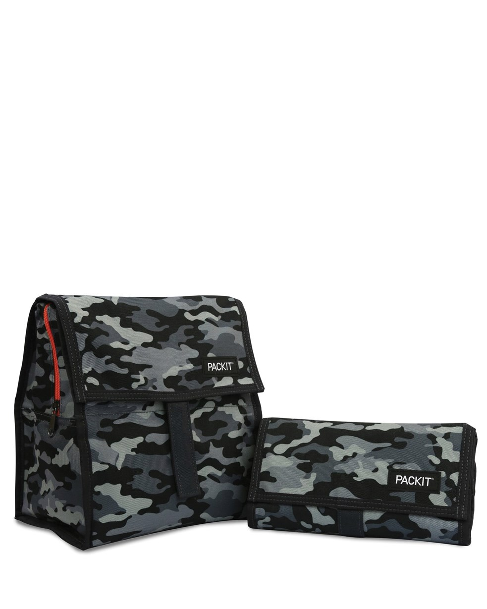 Packit Freezable Lunch Bag Charcoal Camo