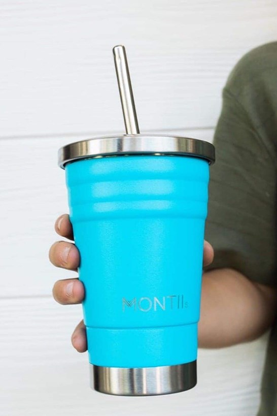Montiico Mini Smoothie Cup Blue 275mL